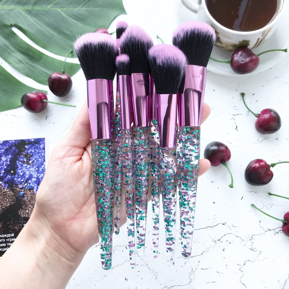 Crystal Makeup Brush Set