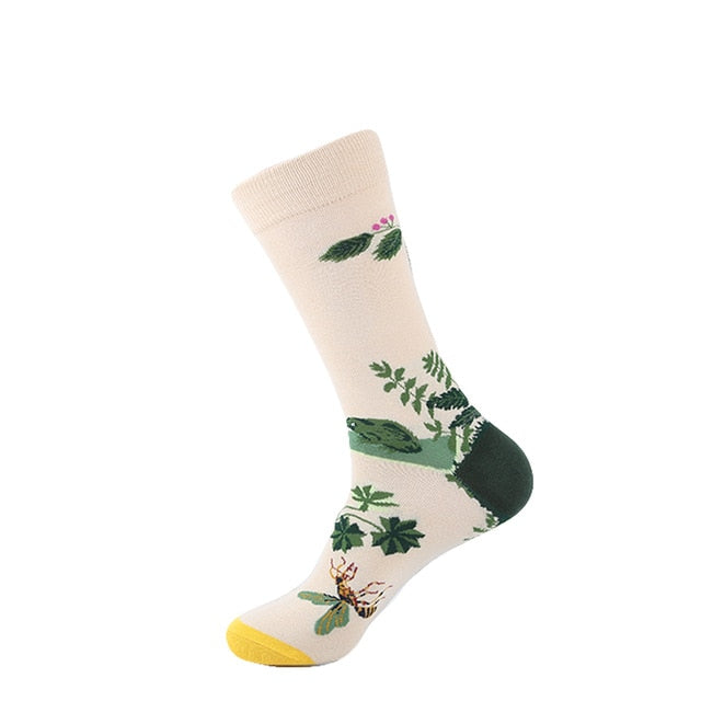 Plants, Animals & Pattern Socks