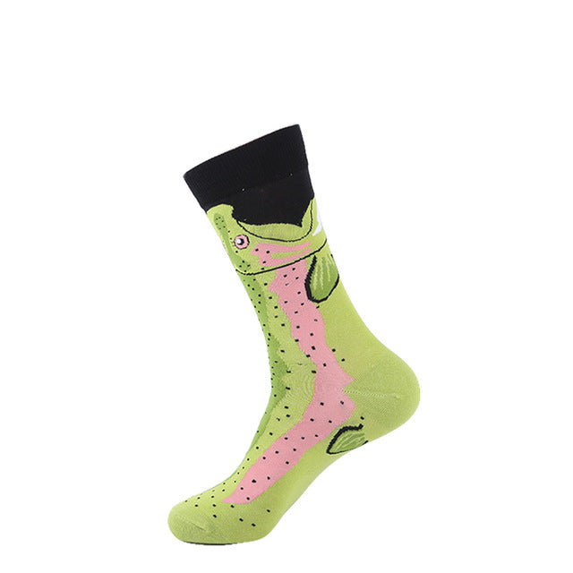 Plants, Animals & Pattern Men's Socks