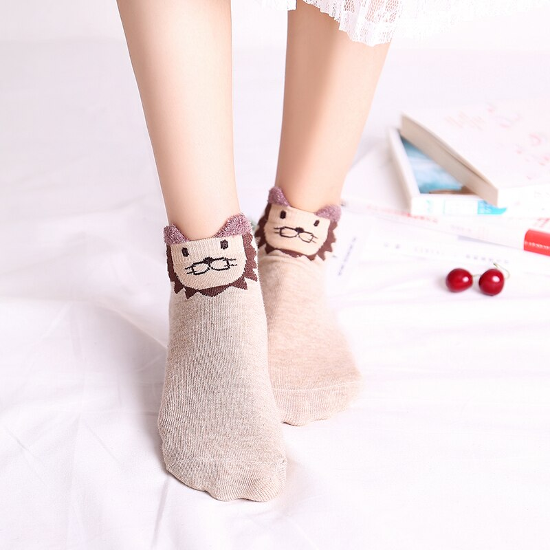 Cute Animals Ankle Socks (Set of 5)