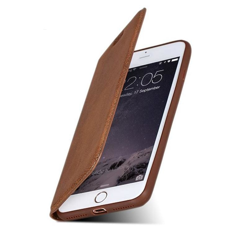 Leather Flip Case for iPhone 6, 6S, 6+, 6S+