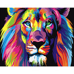 DIY Painting By Numbers - Colorful Lion