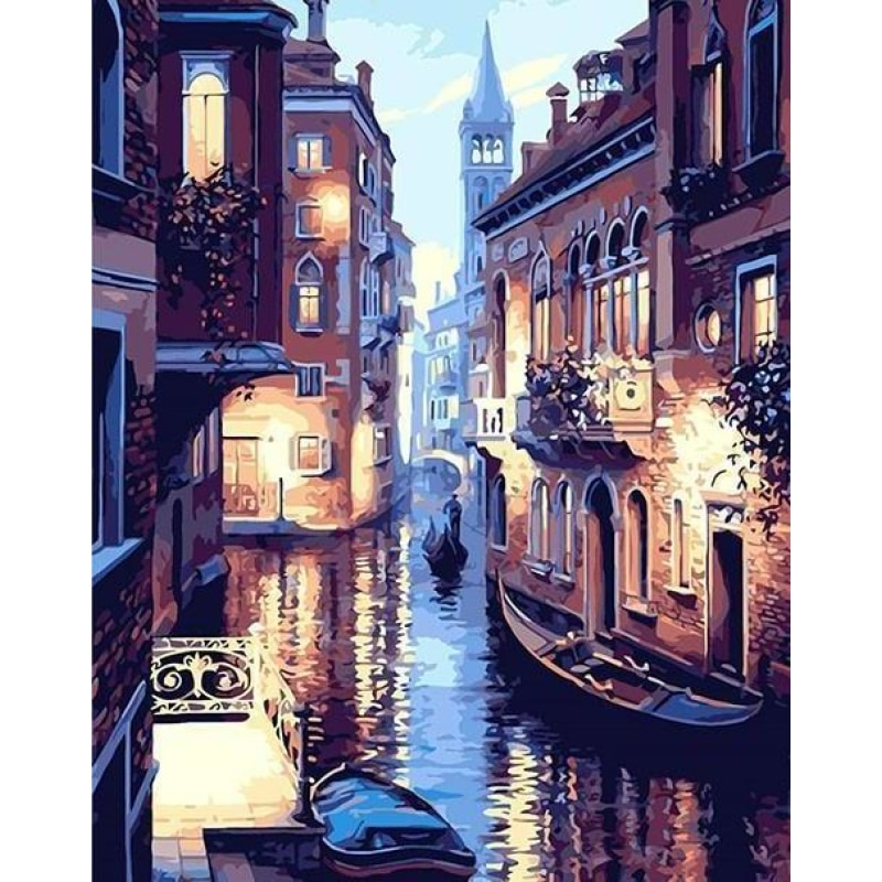 DIY Painting By Numbers - Venice Night