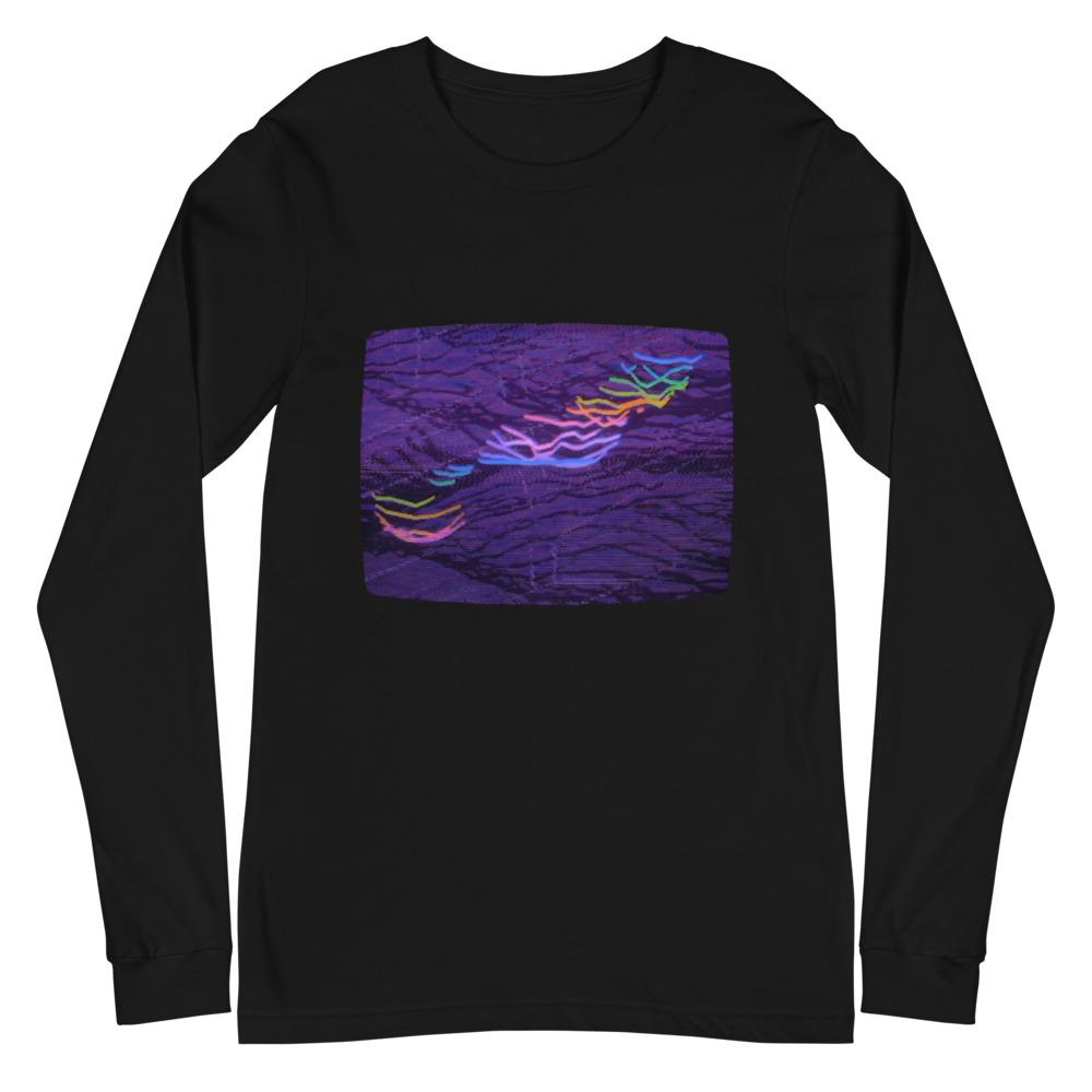 RIDE THE RAINBOW LIGHTNING Unisex Long Sleeve Tee