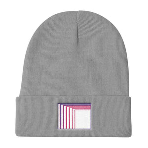 Skull Portal (Pink Logo Embroidery) Knit Beanie (4 color choices) - World Wide Basement Vibes