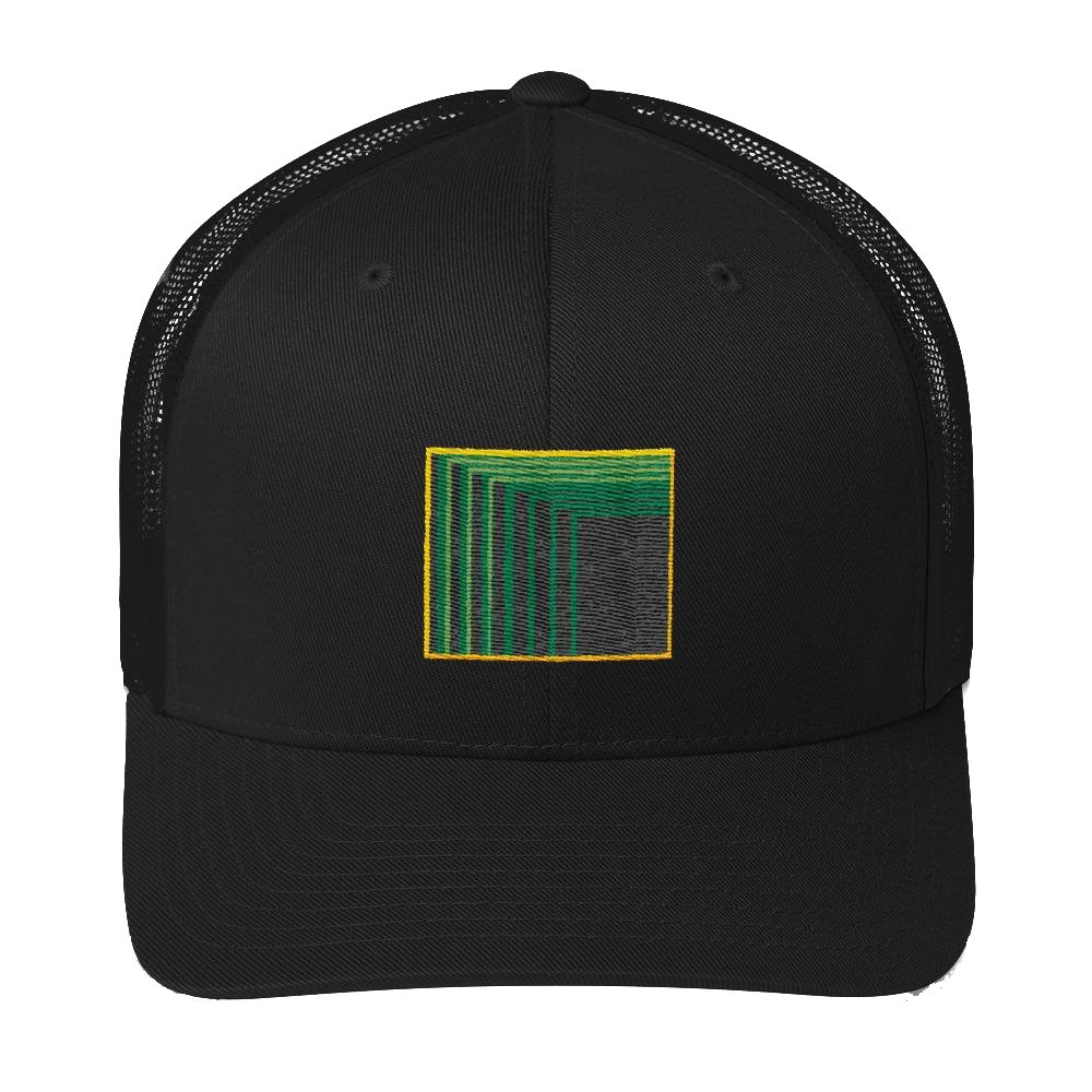 Skull Portal (Green Logo Embroidery) Trucker Cap - World Wide Basement Vibes