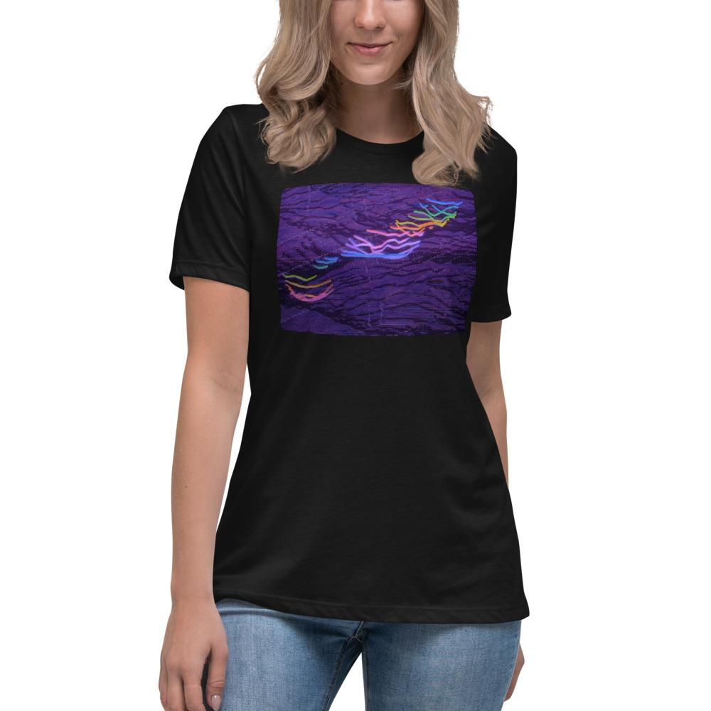 RIGHT THE RAINBOW LIGHTING Women's Relaxed T-Shirt