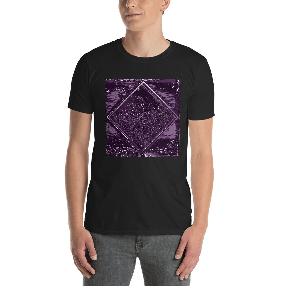 Droste Diamond (Purple print) Short-Sleeve Unisex T-Shirt (3 color choices) - World Wide Basement Vibes