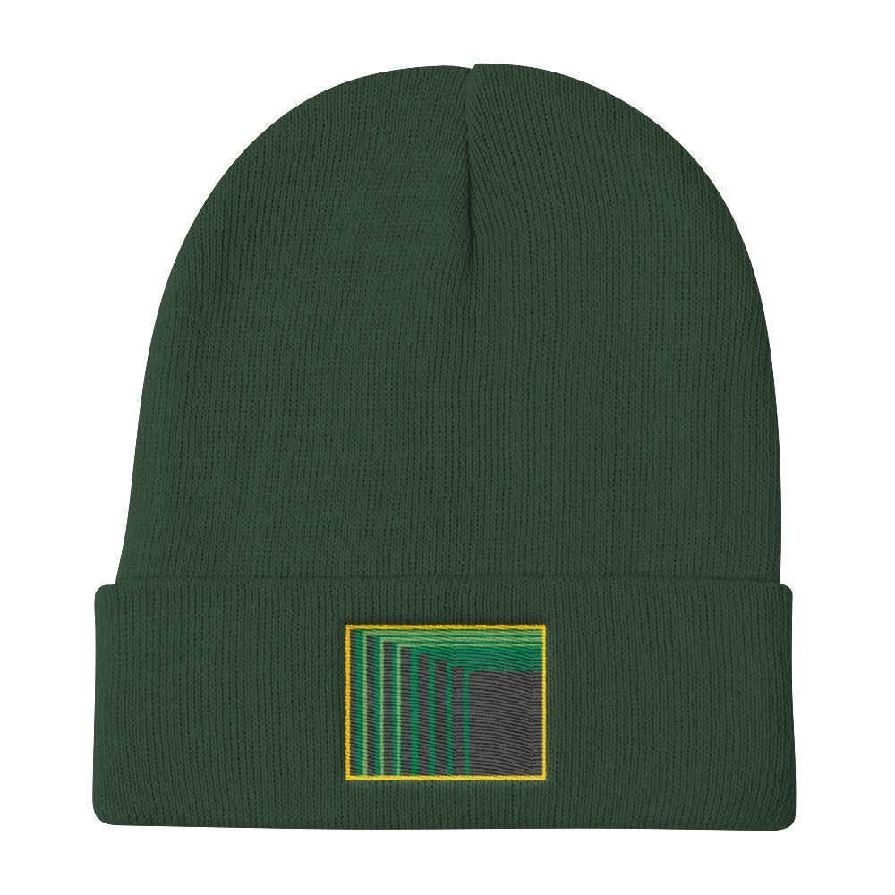 Skull Portal (Green Logo Embroidery) Knit Beanie (4 color choices) - World Wide Basement Vibes