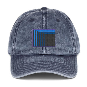 Skull Portal (Blue Logo Embroidery) Vintage Cotton Twill Cap (2 color choices) - World Wide Basement Vibes