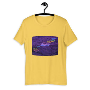 RIDE THE RAINBOW LIGHTNING Short-Sleeve Unisex T-Shirt
