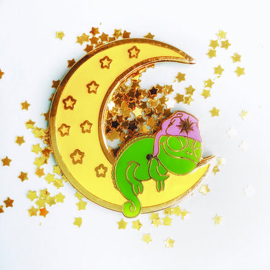 Glow-in-the-dark Pascal Moon Pin