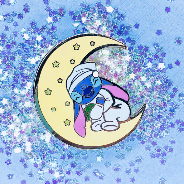 Stitch Glow-in-the-Dark Moon pin