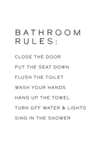 Bathroom Rules Print Download