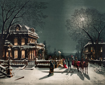 Christmas Night Vintage Print Download