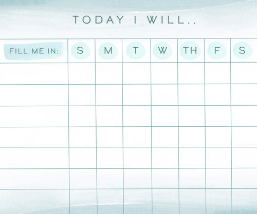Today I Will - Downloadable Print (Chore Chart)