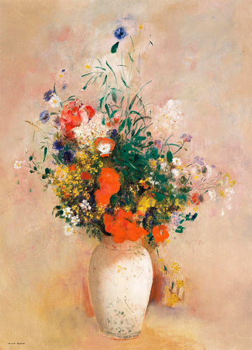 Vase of Flowers Vintage Print Download