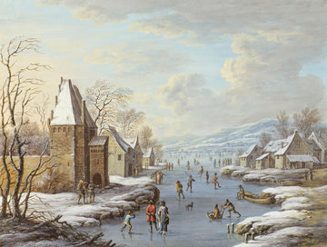 Winter Scene Vintage Print Download