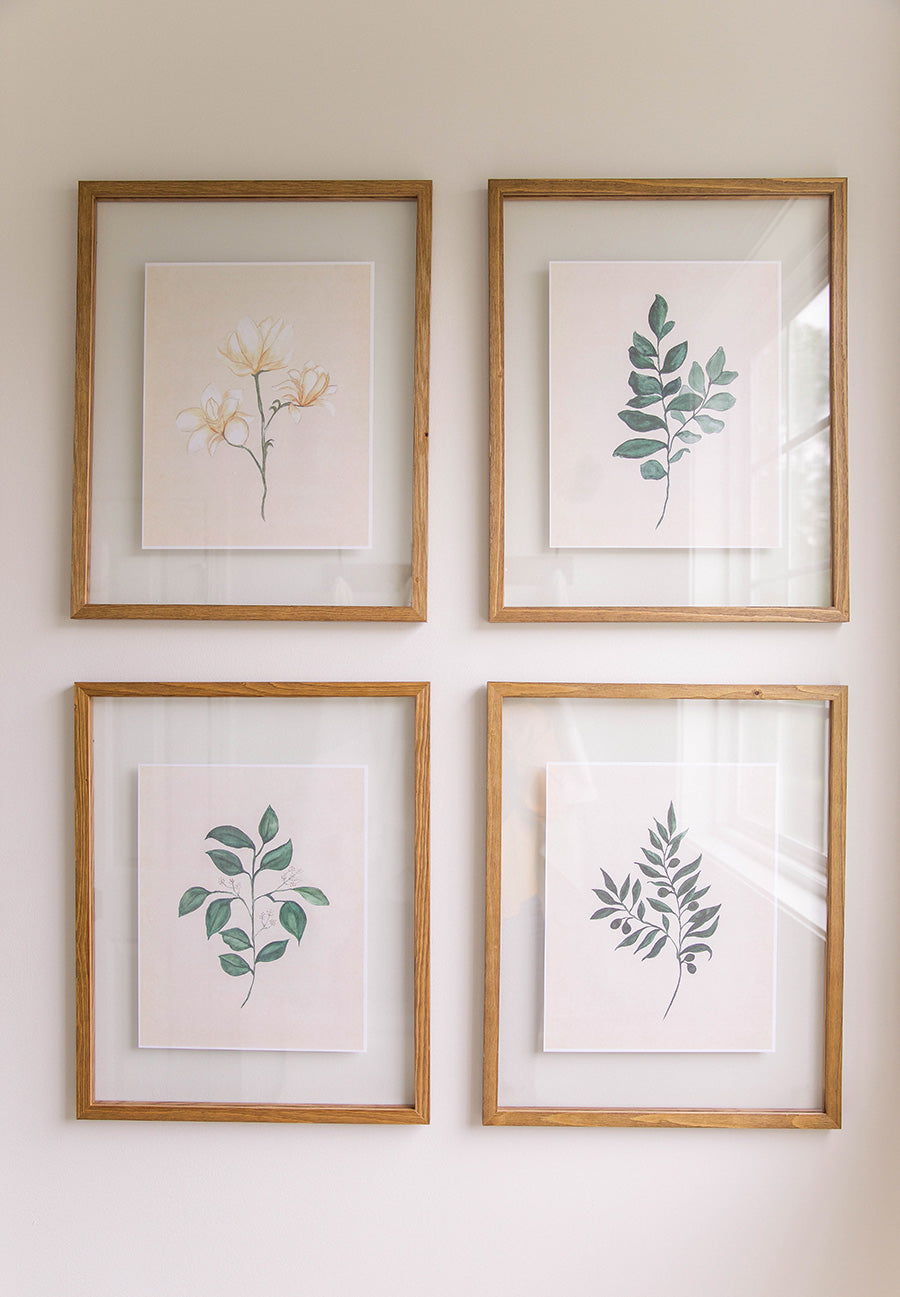 Watercolor Botanicals - (Set of 4) Art Downloads
