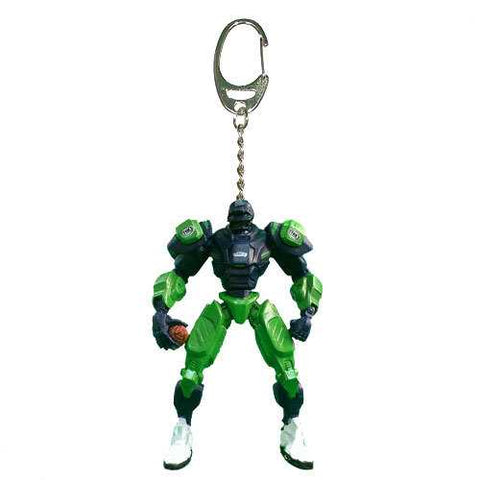 Seattle Seahawks Keychain Fox Robot 3 Inch Mini Cleatus