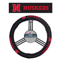 Nebraska Cornhuskers Steering Wheel Cover Leather