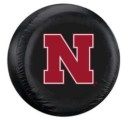 Nebraska Cornhuskers Tire Cover Large Size Black