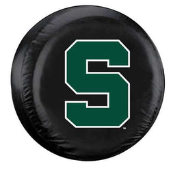 Michigan State Spartans Black Tire Cover - Standard Size