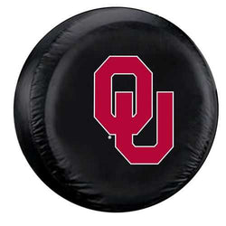 Oklahoma Sooners Black Tire Cover - Standard Size