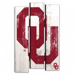 Oklahoma Sooners Wood Fence Sign