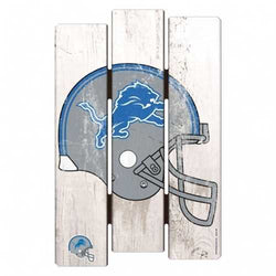 Detroit Lions Sign 11x17 Wood Fence Style