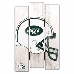 New York Jets Sign 11x17 Wood Fence Style