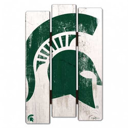 Michigan State Spartans Wood Fence Sign