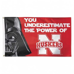Nebraska Cornhuskers Star Wars Flag 3x5 You Underestimate the Power of Logo