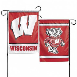 Wisconsin Badgers Flag 12x18 Garden Style 2 Sided