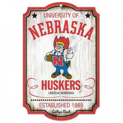 Nebraska Cornhuskers Wood Sign - College Vault - 11