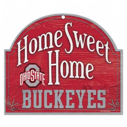 Ohio State Buckeyes Wood Sign - Arched Home