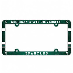 Michigan State Spartans Plastic Full Color License Plate Frame