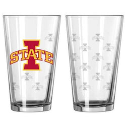 Iowa State Cyclones Satin Etch Pint Glass Set