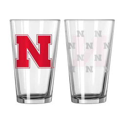 Nebraska Cornhuskers Satin Etch Pint Glass Set