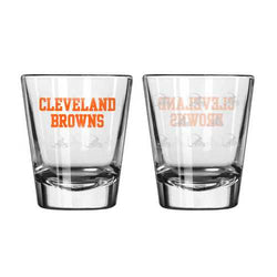 Cleveland Browns Shot Glass - 2 Pack Satin Etch
