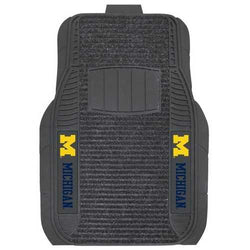 Michigan Wolverines Car Mats - Deluxe Set