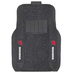 Wisconsin Badgers Car Mats - Deluxe Set