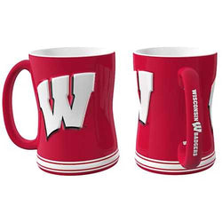 Wisconsin Badgers Coffee Mug - 14oz Sculpted Relief