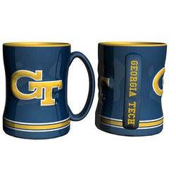 Georgia Tech Yellow Jackets Coffee Mug - 14oz Sculpted Relief