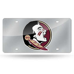 Florida State Seminoles License Plate Laser Cut Silver