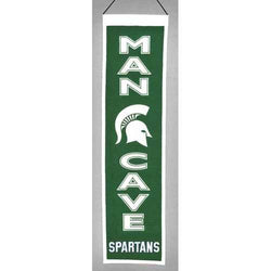 Michigan State Spartans Banner Wool Man Cave