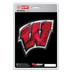 Wisconsin Badgers Decal 5x8 Die Cut 3D Logo Design