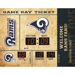 Los Angeles Rams Clock 14x19 Scoreboard Bluetooth - New
