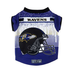 Baltimore Ravens Pet Performance Tee Shirt Size L