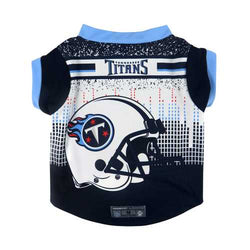 Tennessee Titans Pet Performance Tee Shirt Size XS